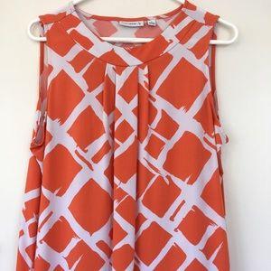 Susan Graver flowy sleeveless blouse